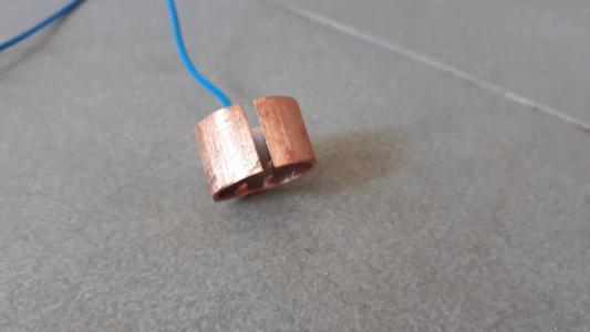 Talajtomográf réz elektróda